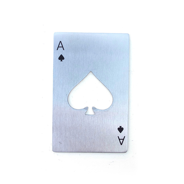ace of spades credit card size bottle opener - Credit Card Bottle Opener