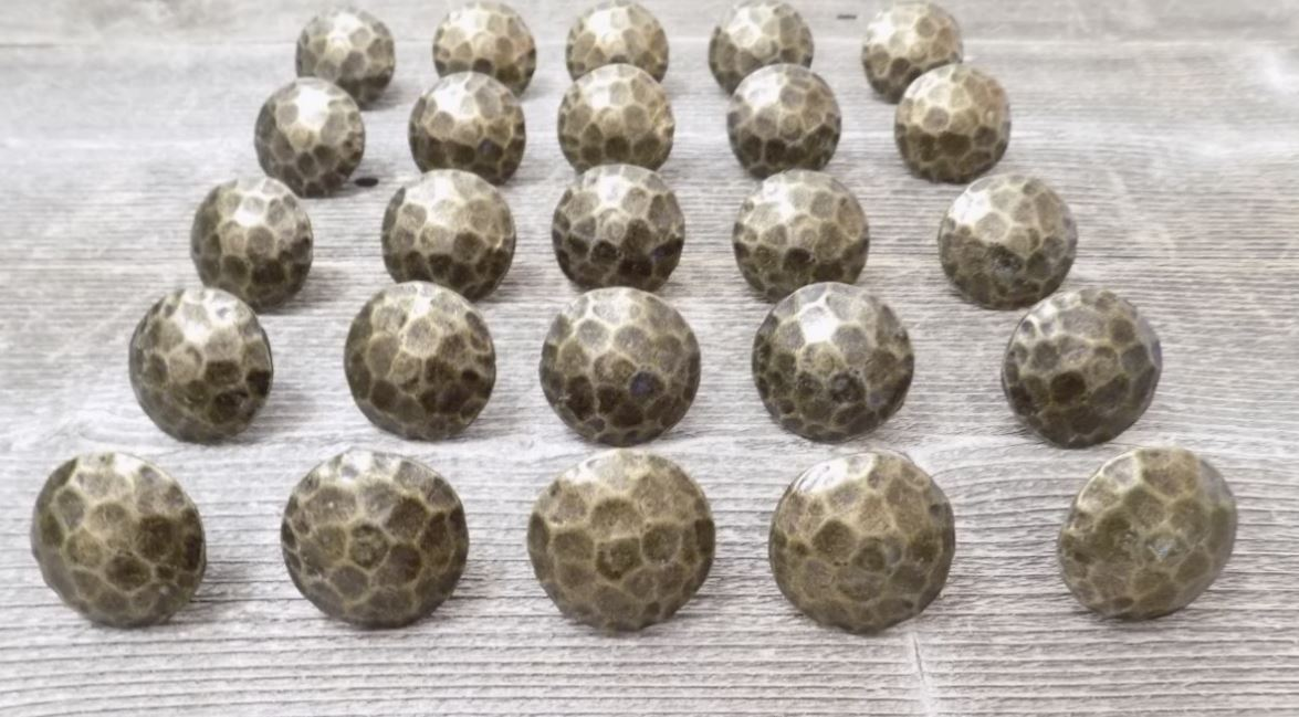 Clavos decorative nail heads rustic worn brass finish 1 1 for Decorative nails